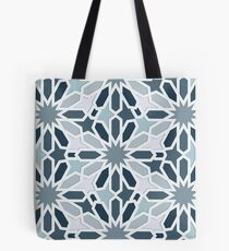 Grey Oriental Pattern Tote Bag
