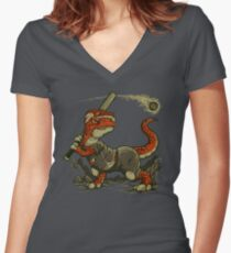 Fight The Asteroid Women's Fitted V-Neck T-Shirt