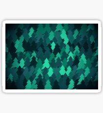 Spruce forest illustration. Nature background of trees. Green trees texture. Wood drawings. Wanderlust. Adventure and nature Sticker
