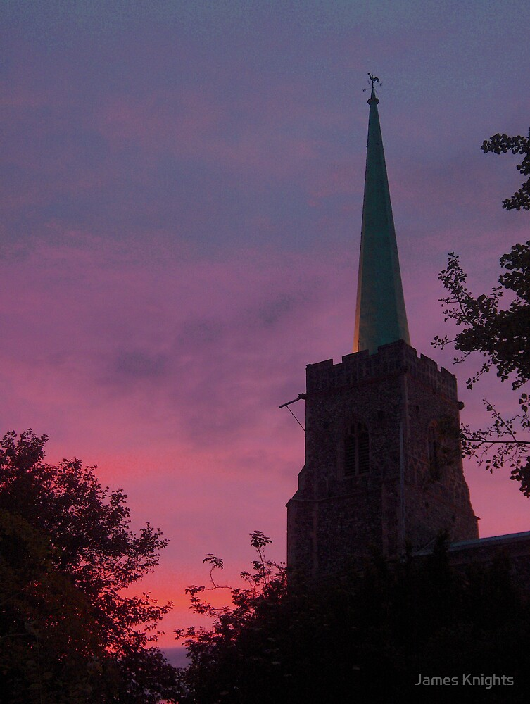 Sunset Behind St Margaret's by James Knights