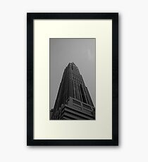 Looking Up v3 - Hong Kong New World Tower, Shanghai Framed Print