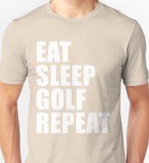 Eat Sleep Golf Repeat Sport Shirt Funny Cute Gift For Golfer Team Player Golfing Unisex T-Shirt