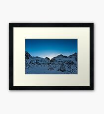 Swiss mountains after sunset Framed Print