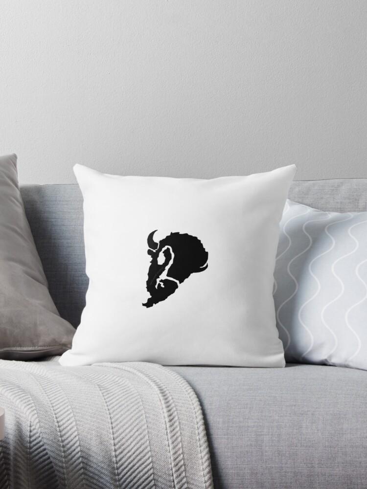 70c6e0e2 Bold Charging Bison Silhouette Black & White Print Graphic Design (Native  American Symbol)