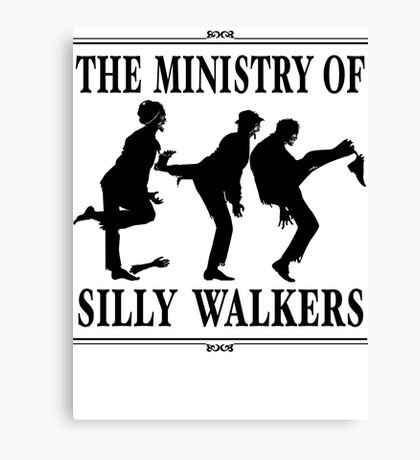 The Ministry of Silly Walkers Canvas Print