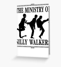The Ministry of Silly Walkers Greeting Card