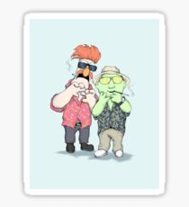 Beaker & Bunsen In Las Vegas Sticker