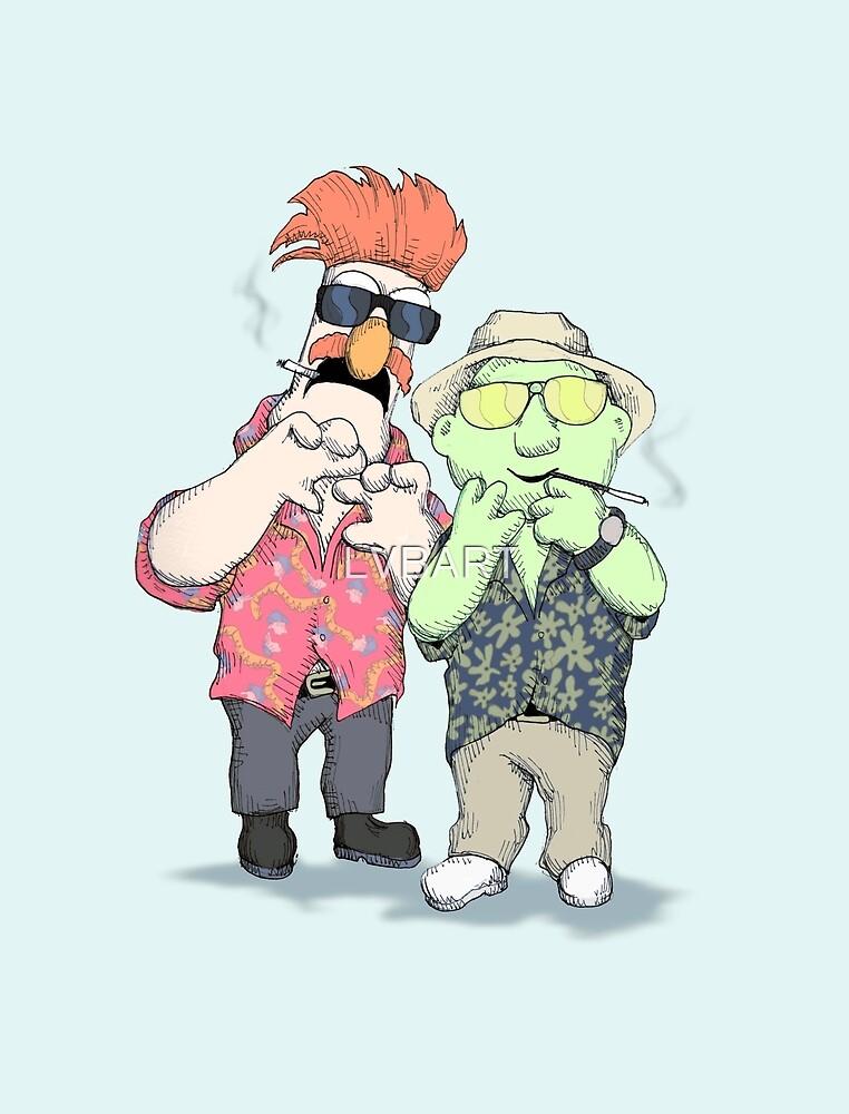 Beaker & Bunsen In Las Vegas by LVBART
