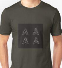 Geometric trees. Modern spruce illustration. Simple hipster design. Minimalist coniferous forest T-Shirt
