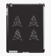 Geometric trees. Modern spruce illustration. Simple hipster design. Minimalist coniferous forest iPad Case/Skin