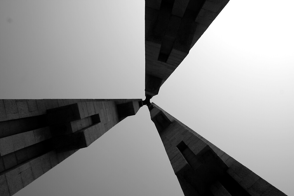 Looking Up v4 - Monument to the People's Heroes, Shanghai by Jonathan Russell