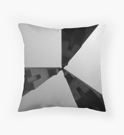 Looking Up v4 - Monument to the People's Heroes, Shanghai Throw Pillow