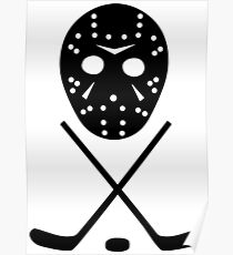 Ice Hockey Sticks and Mask Poster