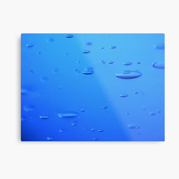 blue bubble Impression métallique