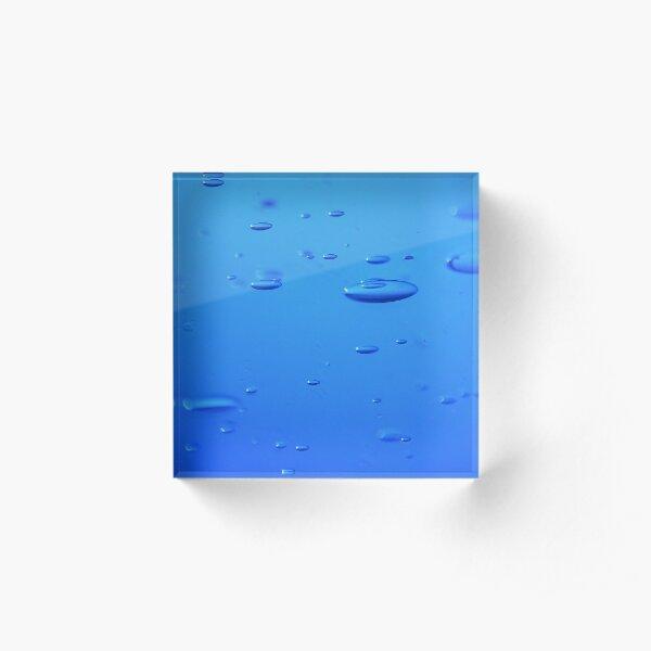 blue bubble Bloc acrylique