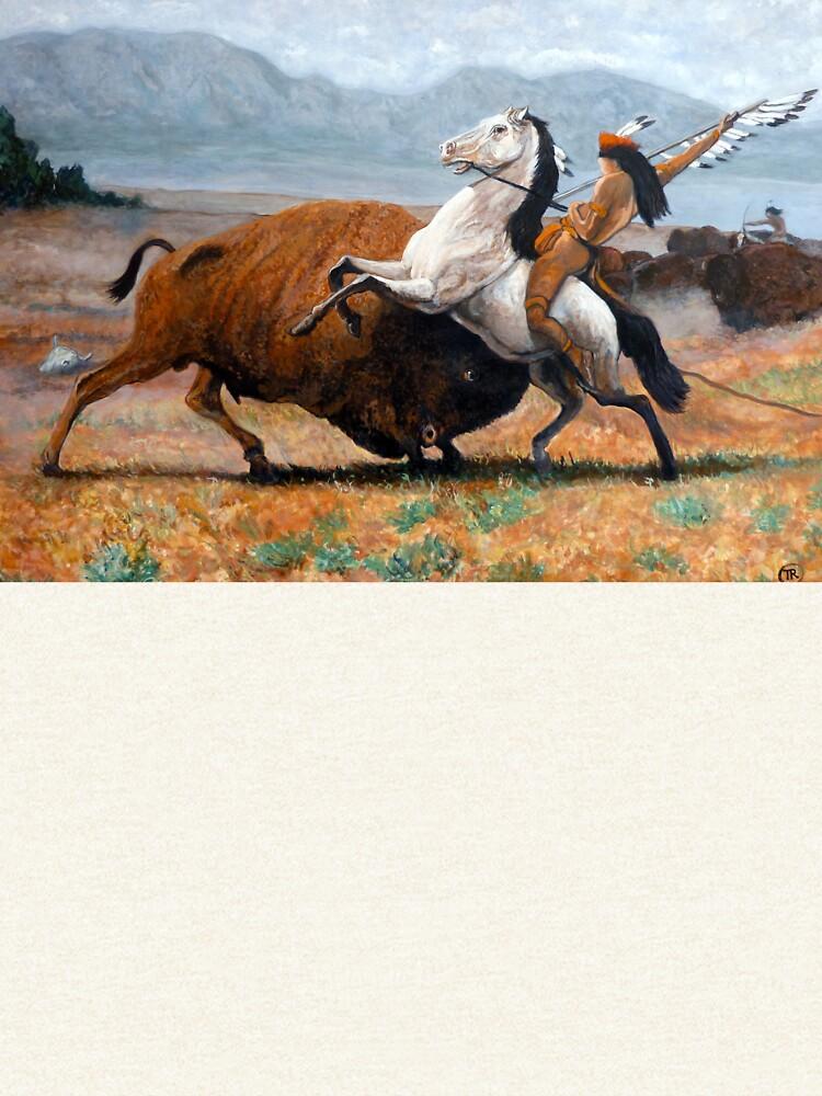 Buffalo Hunt by donnaroderick