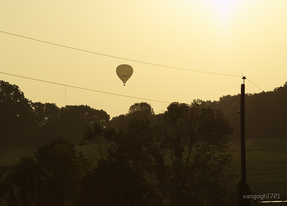 Hot Air Balloon Sunset by vangogh1721