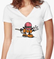 Top Hat Tee Women's Fitted V-Neck T-Shirt