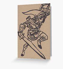Link Papercraft Greeting Card
