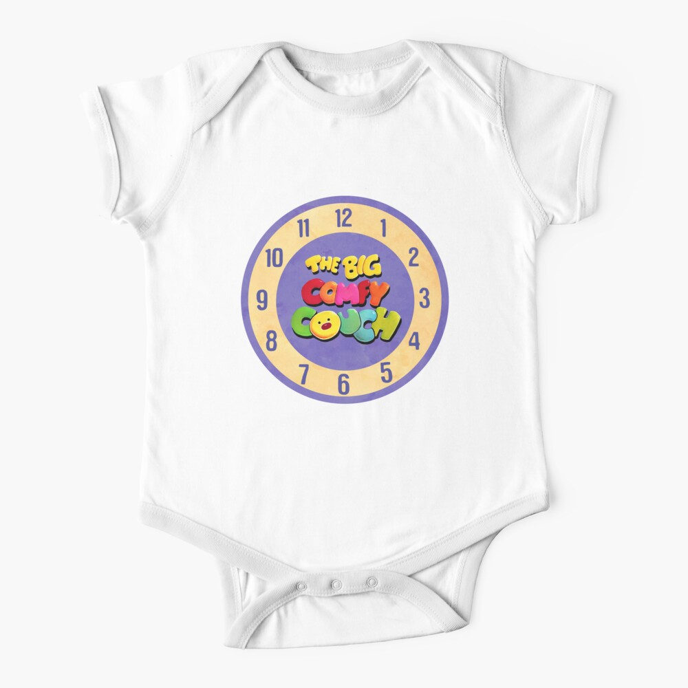 The Big Comfy Couch Clock Baby One-Piece