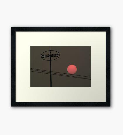 Smoke at Sunset Framed Print