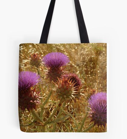 Purple Thistle,Geelong District Tote Bag