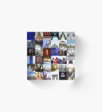 Collage of Paris Acrylic Block