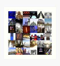 Collage of Paris Art Print