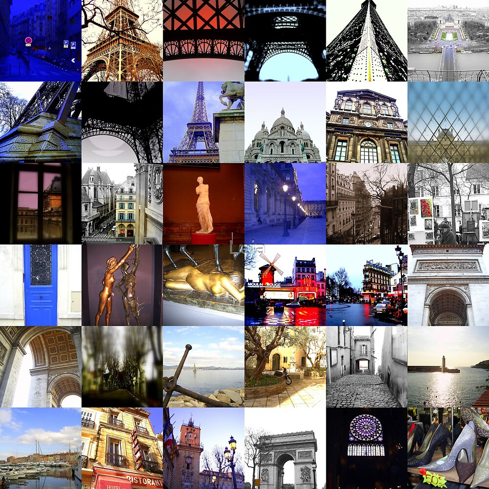 Collage of Paris by Leia