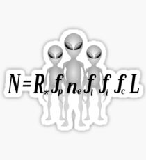 Drake Equation With Aliens Sticker