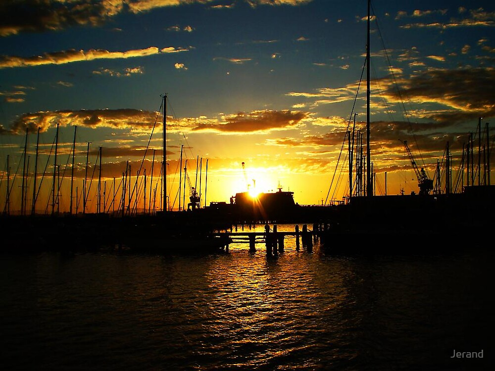 Sunrise from Williamstown by Jerand