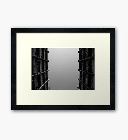 Looking Up v5 - Shek Kip Mei Estate, Hong Kong Framed Print