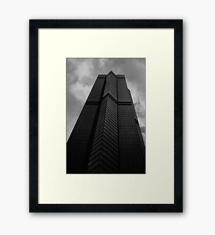 Looking Up v6 - The Centre, Hong Kong Framed Print