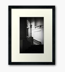 Ethereal pillar light Framed Print