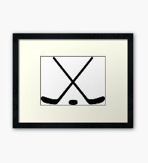 Hockey Sticks Framed Print