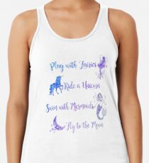 Play with Fairies, Ride a Unicorn... Women's Tank Top