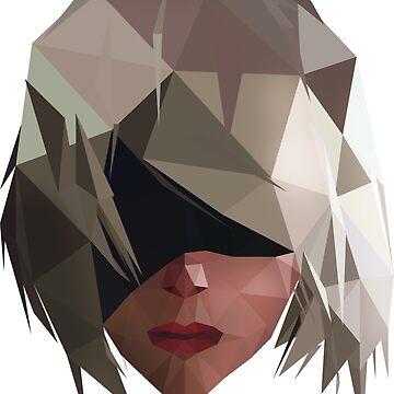 Triangle Automata YoRHa Type B by hoodwinkedfool