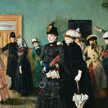 Christian Krohg - Albertine To See The Police Surgeon (Pabegynt 1885, Avsluttet 1887) by artcenter