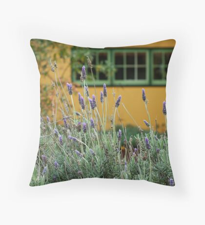 Lavender Cottage Throw Pillow
