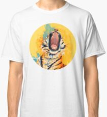 Wild Yawn - Tiger portrait, colorful tiger, animal illustration Classic T-Shirt
