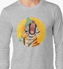 Wild Yawn - Tiger portrait, colorful tiger, animal illustration T-Shirt