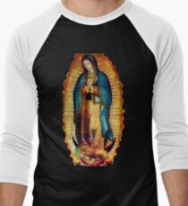 Our Lady of Guadalupe Tilma Replica Men's Baseball ¾ T-Shirt