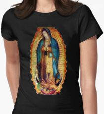 Our Lady of Guadalupe Tilma Replica Women's Fitted T-Shirt