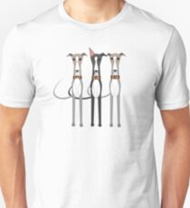Three cartoon whippets Unisex T-Shirt