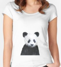 Little Panda Fitted Scoop T-Shirt
