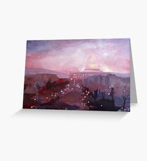 United States Capitol in Washington D.C. at Dusk Greeting Card
