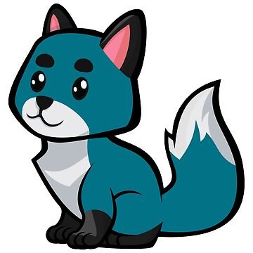 Baby Fox -Teal [Roufxis - RB] by RoufXis