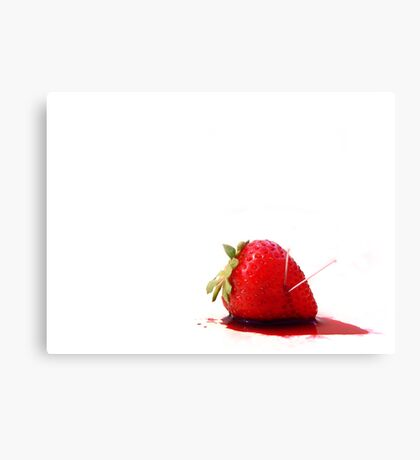 Blood Berry Canvas Print