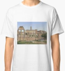 Christoffer Wilhelm Eckersberg - View Of The Forum In Rome Classic T-Shirt