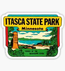 Itasca State Park Minnesota Vintage Travel Decal Sticker